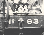 Black and white photograph of engine 83. Taken from Paddy Mallon collection